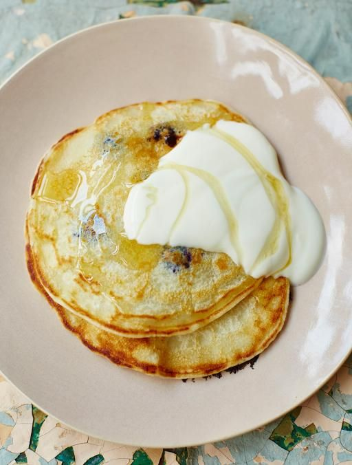 One-cup pancakes with blueberries | Jamie Oliver | Food | Jamie Oliver (UK)