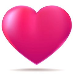 Pink glossy heart vector