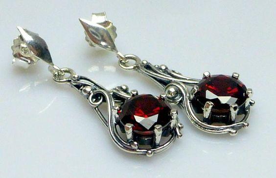 Kolczyki Srebrne Granat Promocja Srebro 925 M178 6050957245 Oficjalne Archiwum Allegro Accessories Cuff Cufflinks