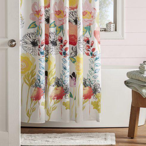 Mistana Appenzell Shower Curtain Wayfair Shabby Chic Bathroom Colorful Shower Curtain Designer Shower Curtains