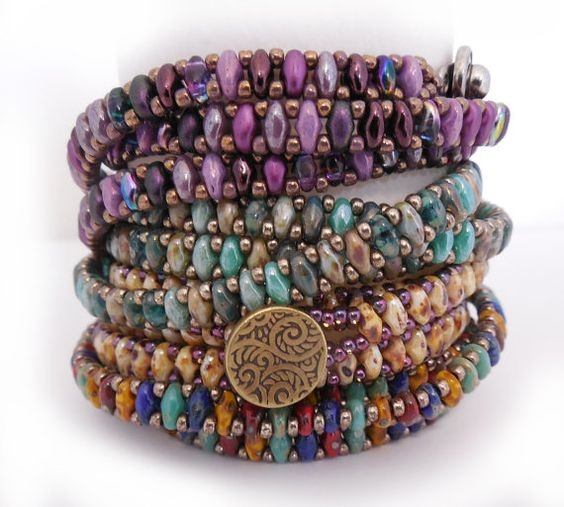 SuperDuo Chain Wrap Bracelet Tutorial by Carole Ohl by openseed