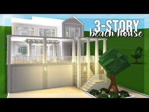 Bloxburg 75k Family Beach House Youtube In 2020 Beach House Room Beach House Decor Beach House Interior
