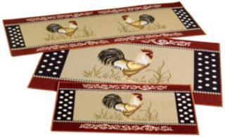 Cockadoodle Do Rooster 3 Piece Rug Set Kitchen Ideas Pinterest Products Rugs And Roosters