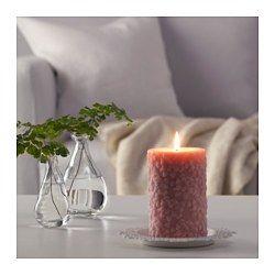 FULLGOD Blockkerze, duftend, frische Blumen, rosa - IKEA