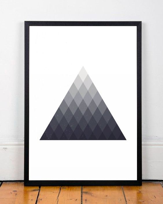 Geometric poster Triangles art print by ShopTempsModernes on Etsy