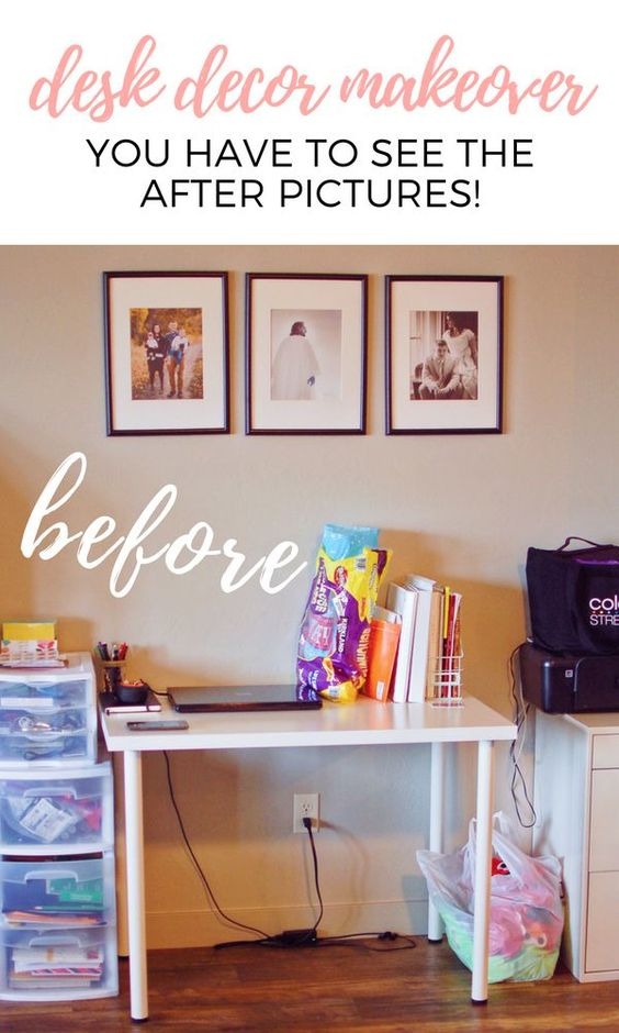 From Drab To Fab My Desk Decor Makeover On A Budget Love Love Love Diy Desk Decor Desk Decor Diy Desk