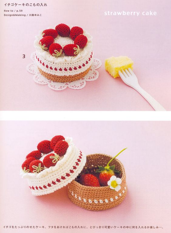 Crochet Sweets and Fruit Japanese craft book by MeMeCraftwork