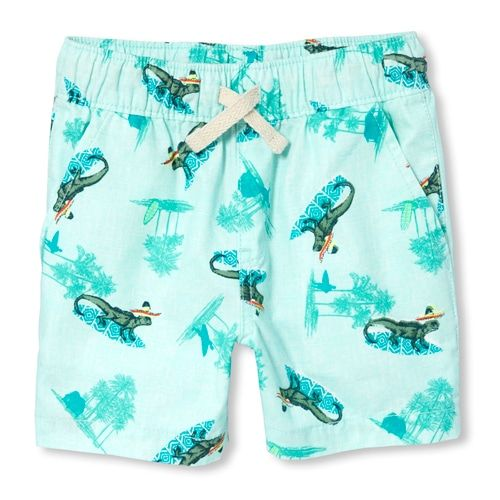The Childrens Place Baby Boys Printed Jogger Short