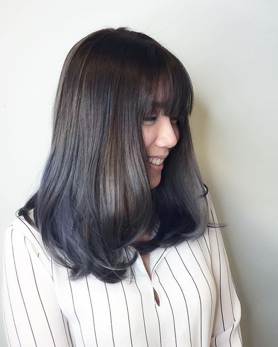 Blue ash /ombré Balayage for Bob style ********** CLEO hair international call here 63385250 for book appointment Hair done by @takuyaxtakuya #hair #haircolor #hairstyle #japanese #hairstylist #singapore #singaporean #color #colors #colour #colours #highlight #highlights #babylights #babylightsombre #ombre #balayage #takuyahair #cleohairsg #colourmelt #transformation #makeover #bluehair #ash #ashhair #bobhair: