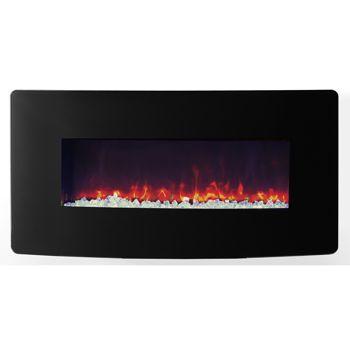 Costco Muskoka Urbana Curved Electric Wall Mount Electric Fireplace Fireplace Pinterest