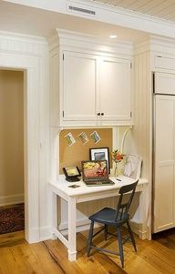 """Like the corkboard """"backsplash"""" that adds function to an otherwords useless space!"""