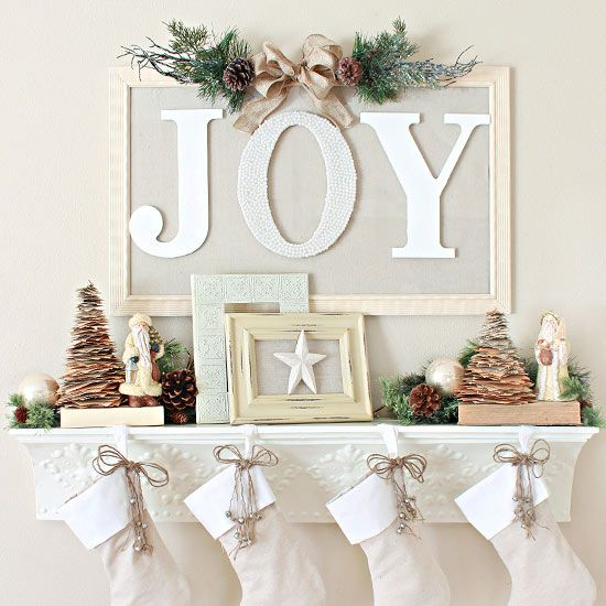 DIY Christmas Mantel Decorating Ideas • Ideas and tutorials, including this one from 'Love of Family and Home'!