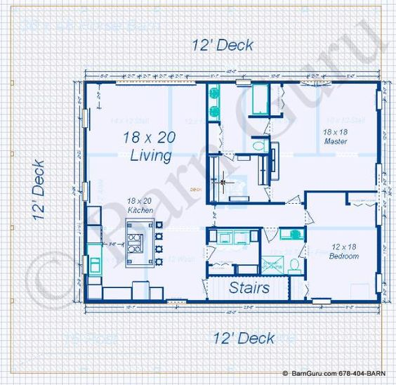 2 bedroom apt horse barn floor plans pinterest loft for Barn apartment floor plans