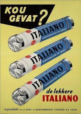 italiano, ooit kreeg ik zo'n snoepje van mijn oma en ik was meteen verkocht!