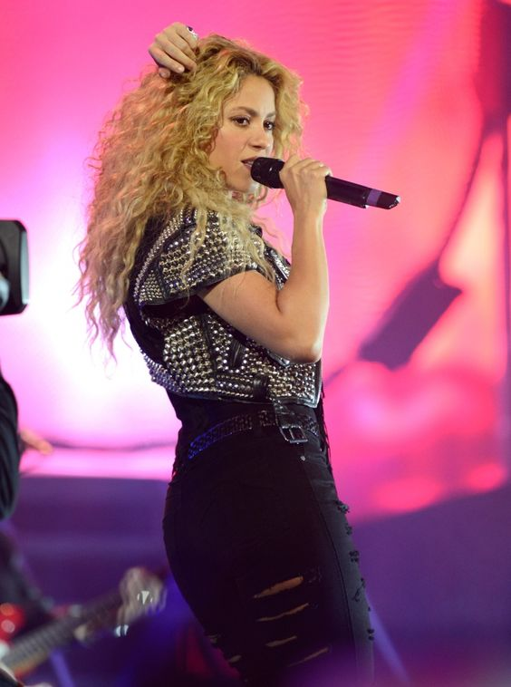 Shakin' things up. Shakira spices up her performance on Oct. 9 in New York