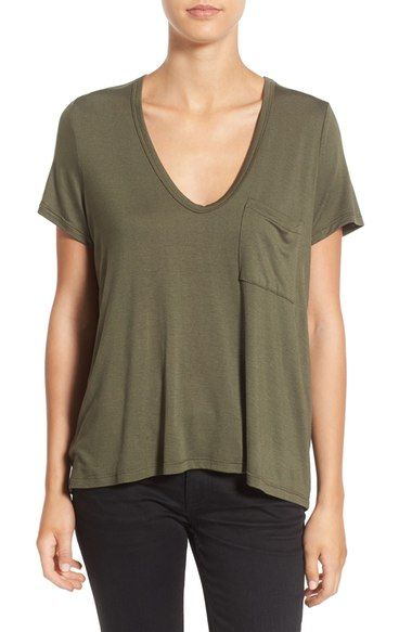 Lush Deep-V Neck Tee available at #Nordstrom: