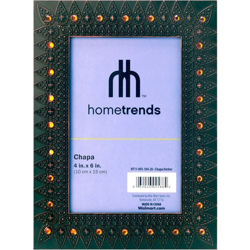 """Hometrends Bronze and Amber Jewel 4"""" x 6"""" Photo Frames,Set of 3"""