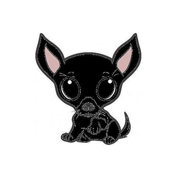 Chihuahua Black Cartoon Chihuahua Cartoon