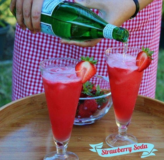 Delicious homemade Strawberry Soda | Yummy Recipes | Pinterest | Sodas ...