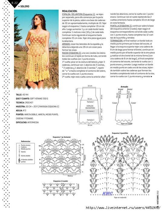 Crochetemoda: Vestido Amarelo de Crochet
