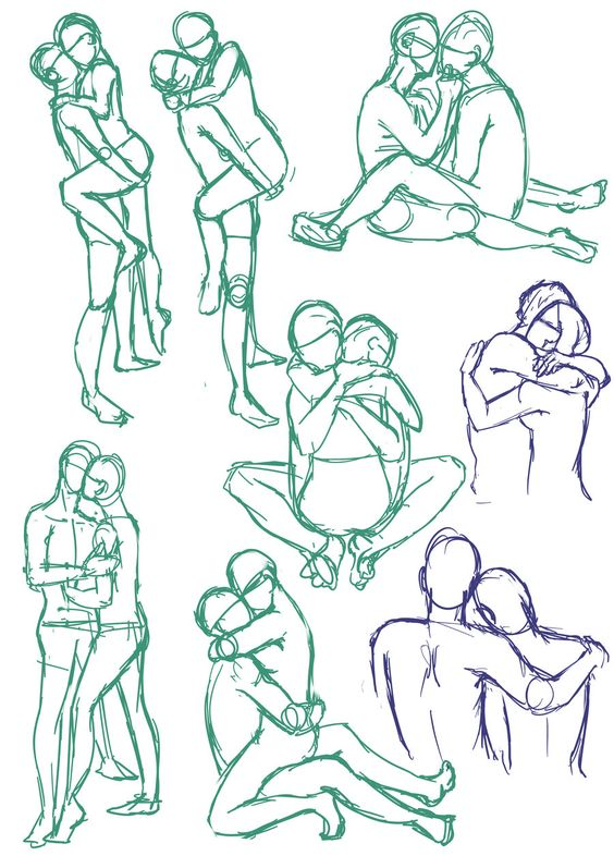 Couples poses 01 by SajoPhoe