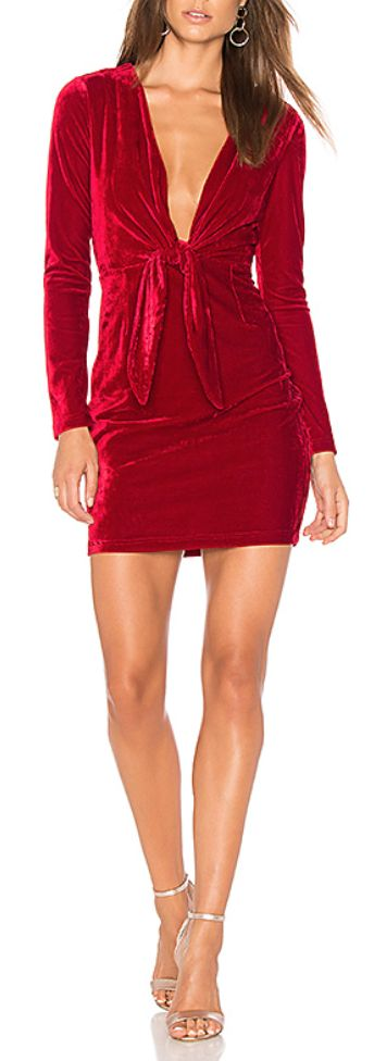 Sexy mini dress with plunging neckline