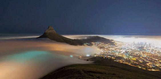 Cidades, nuvem e paisagem