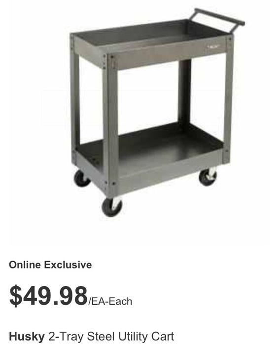 Garage tool cart