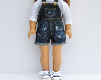 AG-Puppe Kleider Cut Off Shorts Dark von LoriLizGirlsandDolls