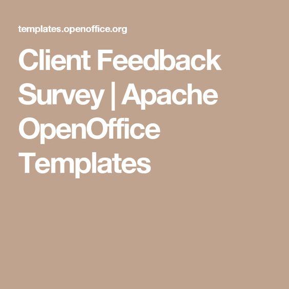 Vocational Training Survey Template Apache OpenOffice Templates - training survey template