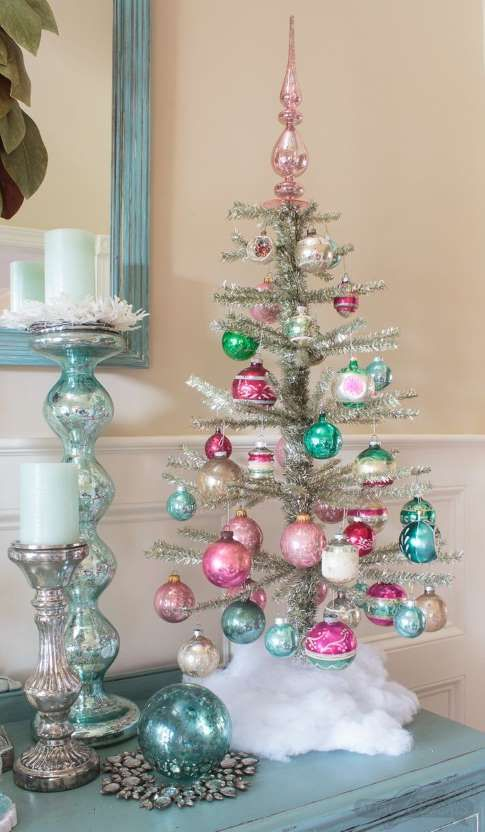 Short On Space These Small Christmas Trees Are Just As Practical As They Are Adorable Unique Christmas Trees Bohemian Christmas Small Christmas Trees