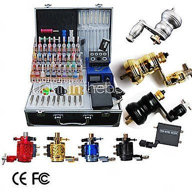 8 Rotary Tattoo Machine Kit with LCD Power and 40 Color Ink, 425.00 | 425.00…