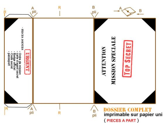 Spy party templates and parties on pinterest for Spy id card template