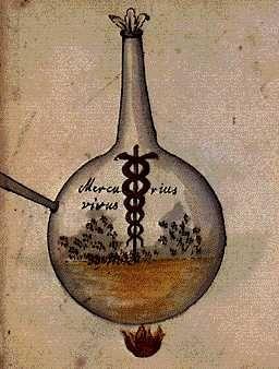 Cabala mineralis manuscript Our mercury.  The living pontic water.