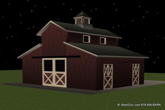 2 stall monitor style horse barn design plan barn love 2 stall horse barn