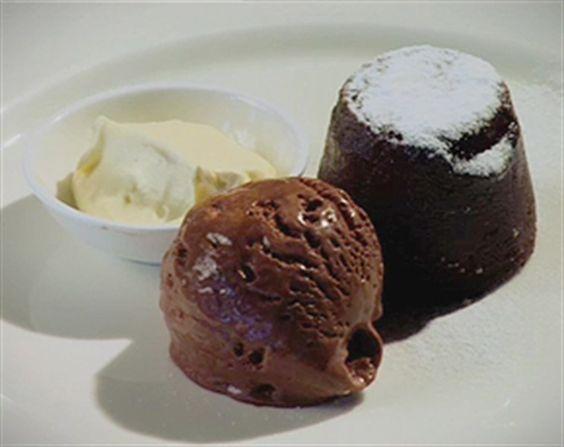 Soft Centered Chocolate Pudding