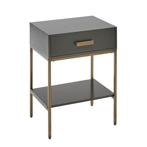 Katy Black Gold Nightstand Gold Nightstand Wooden Bedroom Furniture Diy Furniture Bedroom