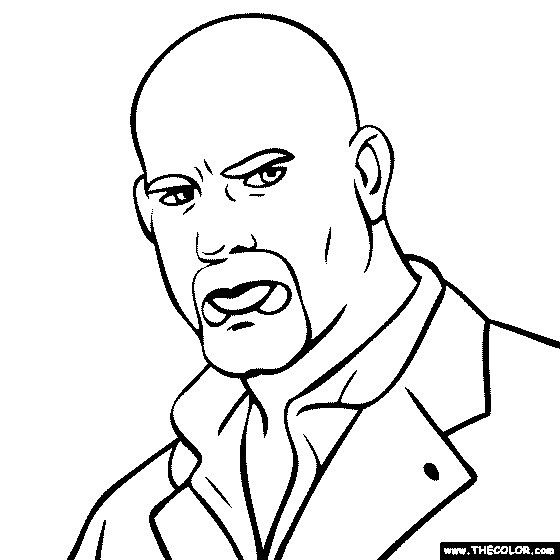 Goldberg Coloring Pages Wwe Coloring Pages Color