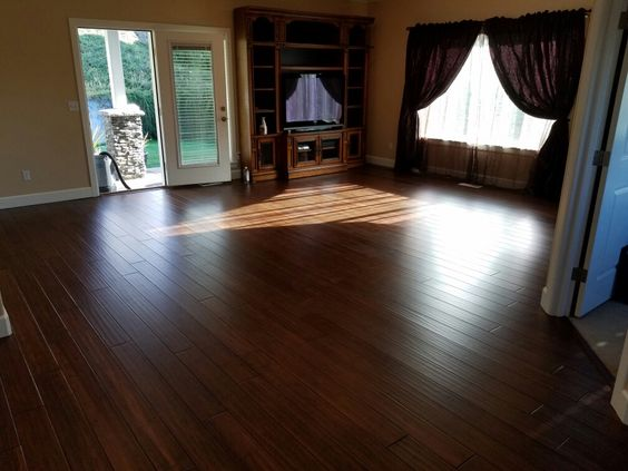 This floor is - Cali Bamboo Antique Java Fossilized Bamboo. Installed by Mid Valley Hardwood LLC Battle Ground, Wa  98604