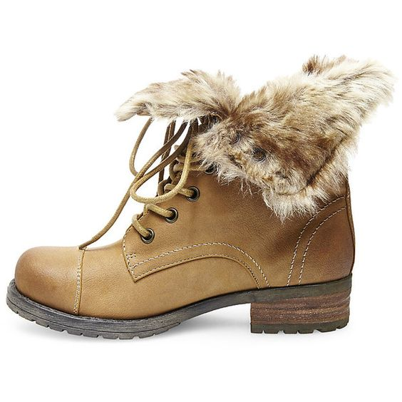 Steve Madden Women's Maybrey Booties ($100) ❤ liked on Polyvore featuring shoes, boots, ankle booties, ankle boots, lace-up ankle boots, short lace up boots, short boots, short combat boots and lace up bootie