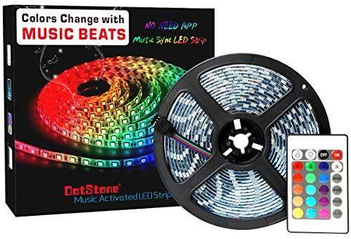 Amazon Com Led Strip Lights Led Lights Sync To Music 16 4ft 5m Led Light Strip 300 Led Lights Smd 505 Led Lighting Bedroom Led Strip Lighting Led Light Strips