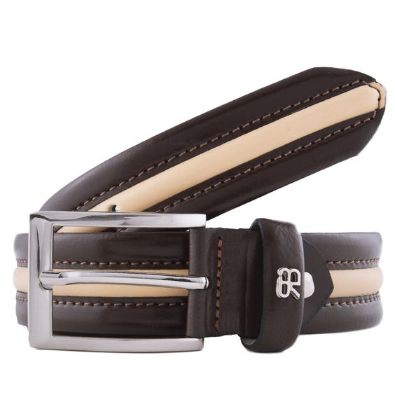 Renato Balestra Z086/35 Colorblock Leather Mens Belt