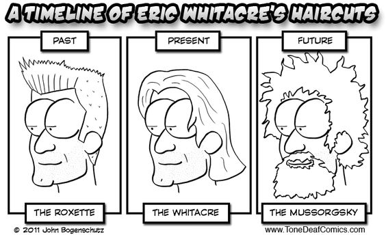 The Evolution of Eric's Hair.