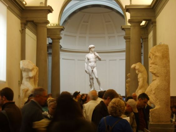 Visit the Accademia and marvel at Michelangelo's David, his Slaves, and his St. Matthew.
