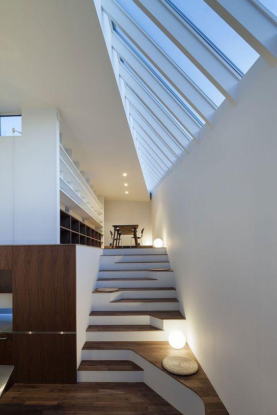Sorprendente diseño de #escalera con elementos de #madera