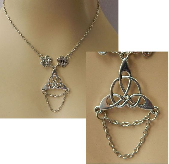 Silver Celtic Knot Pendant Necklace Handmade Adjustable Fashion NEW Accessories #Handmade
