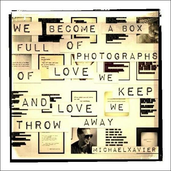 We become a box of photographs