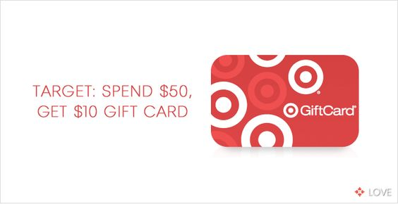 Spend $50 at Target, Get $10 Gift Card. www.designlovelife.com