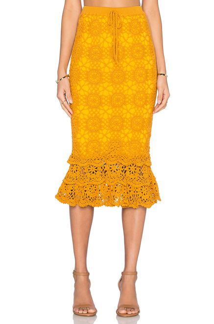 Somedays Lovin Taylor Fishtail Skirt in Sunflower | REVOLVE