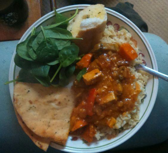 recipe: aubergine spinach curry coconut milk [38]
